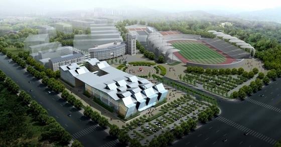 [四川]大型体育中心规划及单体设计方案文本(上海知名大学设计方案)