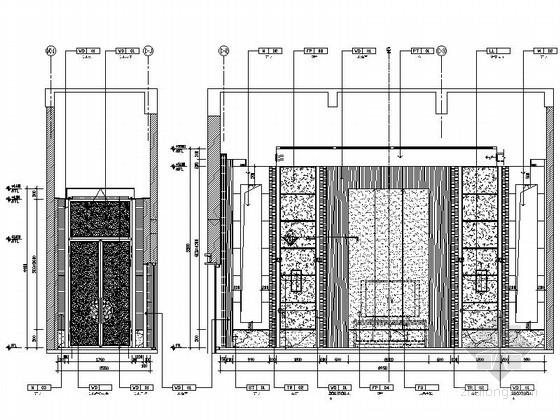 [苏州]高端雅致会议酒店接待会见区装修施工图 立面图