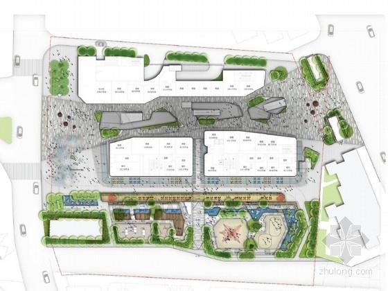 [广州绿荫环绕商业广场景观概念方案设计