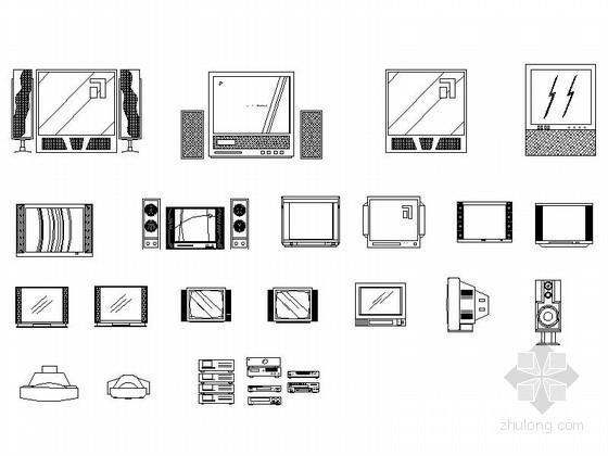 室内装饰品CAD图块下载