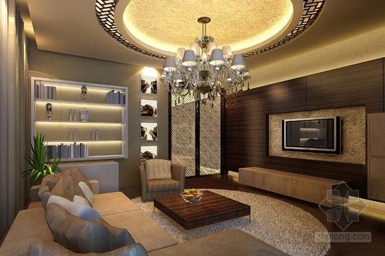 [深圳]豪华三层别墅新中式风格装修图(含效果图) 效果图