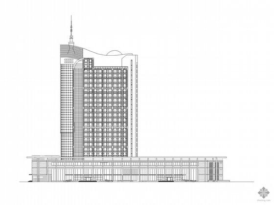 [河北]某酒店及会议中心外立面工程建筑施工图