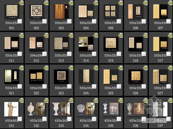 欧式浮雕材质图片301-400(收集爆全)