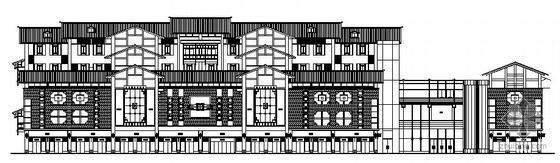 [遵义]某仿古元素的四层商住楼建筑施工图