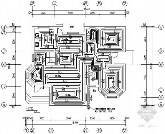 别墅住宅地板辐射采暖设计施工图