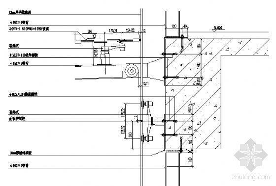 宁工新寓点式幕墙节点详图-3