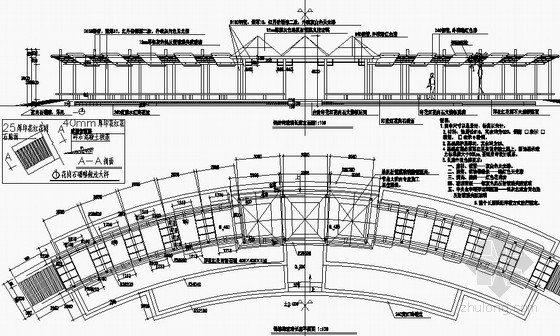 钢结构玻璃长廊详图