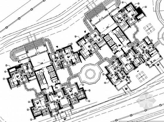[佛山]县城居住区楼房架空层景观设计施工图