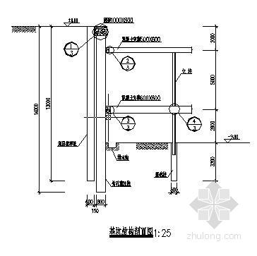 某大厦深基坑结构设计及内支撑配筋设计图