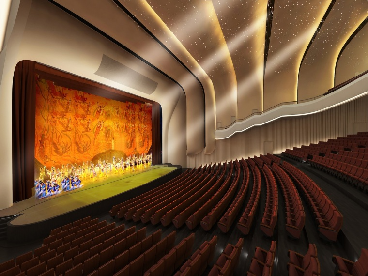 甘肃文化艺术剧院创鲁班奖策划实施方案四层钢框架支撑+钢砼框剪结构