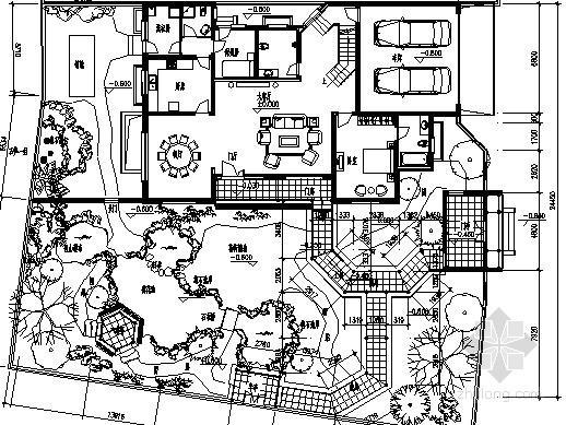 [扬州]某中式古典庭院景观设计施工图