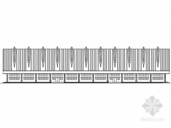 某大学新区风雨操场建筑施工图