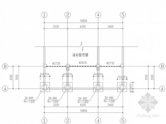 住宅楼外接层节点构造图