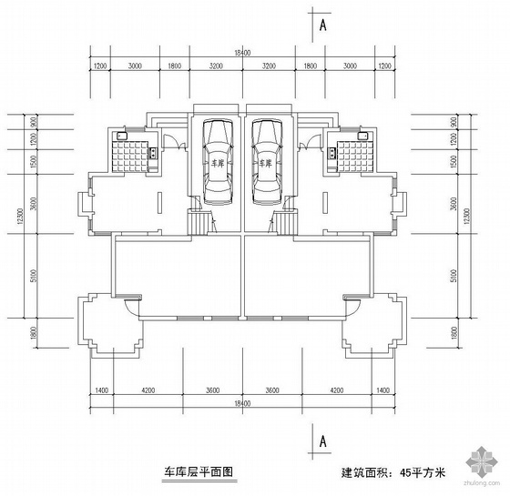 二层双拼别墅户型图(227/213)