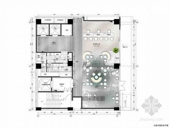 [宁德]清新简洁现代四星级酒店室内设计方案图