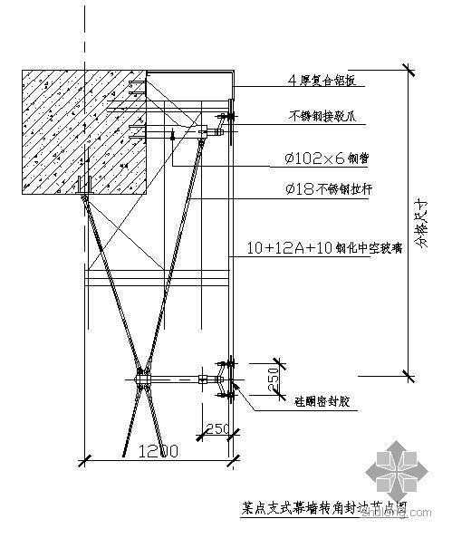 点支式玻璃幕墙构造及细部设计详图图集