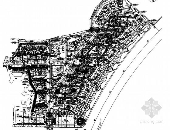 [珠海]亚热带风情商住社区园林景观工程施工图