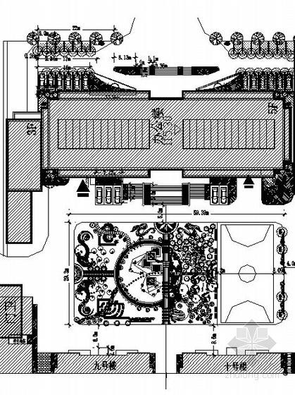办公楼前公共空间园林景观工程施工图
