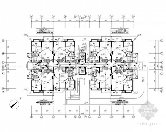 [广州]一类高层居住建筑全套电气施工图纸233张(含高压设计)
