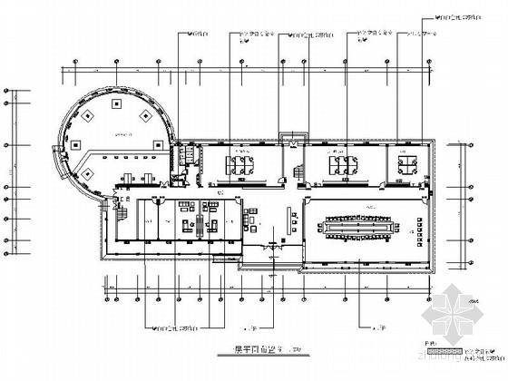 [鄂尔多斯]新技术工业园区现代办公楼装修施工图(含效果)