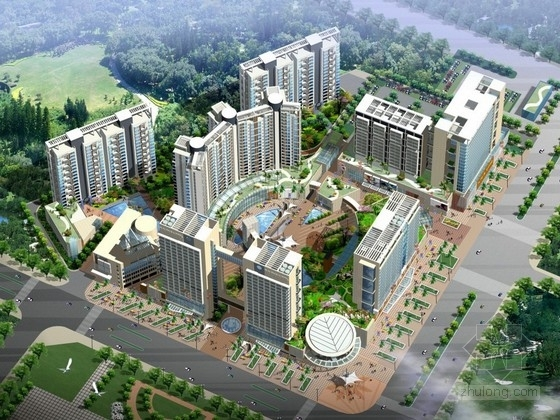 [深圳]现代风格商业区规划及单体设计方案文本