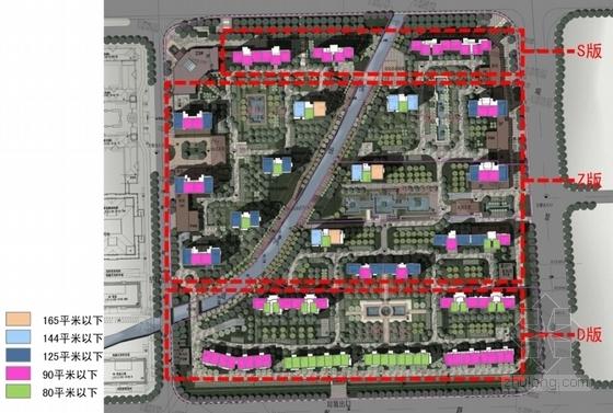 超高层Artdeco风格住宅区规划分析图