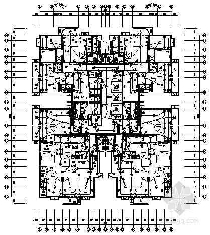 二十六层高级商住楼全套电气施工图纸