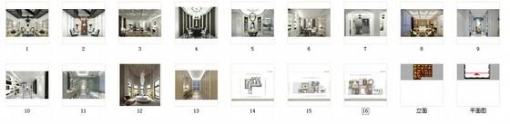 [河北]优雅时尚又艺术的别墅CAD施工图(含效果图)-优雅时尚又艺术的别墅CAD施工图(含效果图)缩略图