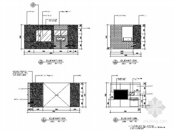 [上海]开发新区现代陈列馆室内装饰设计施工图过厅立面图