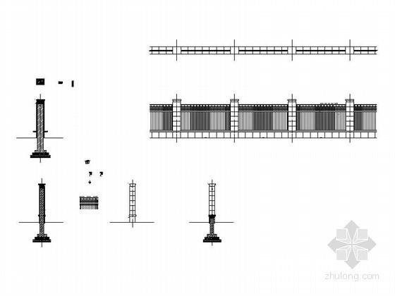 围墙施工图