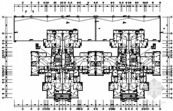 [四川]某大型商业小区全套电气施工图纸138张(含地下室、4栋楼,住宅三网融合)