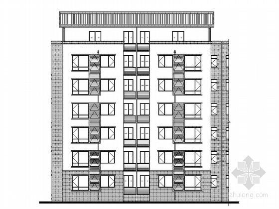 [四川]某一梯二住宅建筑施工图(北客厅)