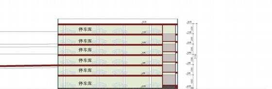 [深圳]高层简练立方体造型沿海口岸旅检大楼建筑设计方案文本-高层简练立方体造型沿海口岸旅检大楼建筑剖面图