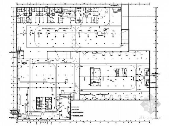 [山东]广场办公楼空调通风设计施工图(地下室)