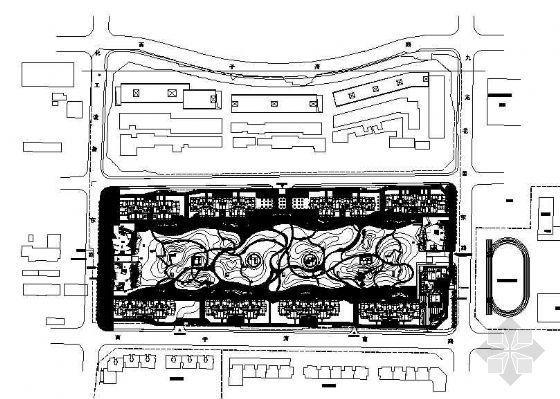 北京苹果小区道路铺装和照明系统图