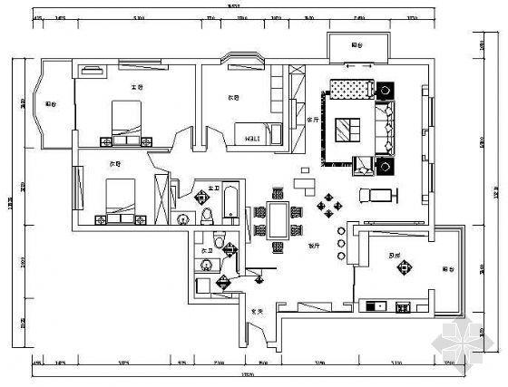 三室二厅装修图