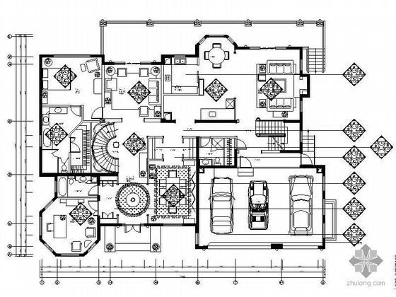 [北京]豪华欧式二层别墅E02型装修图