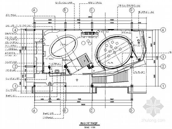 [大连]现代售楼展示中心室内装修施工图(含实景效果)