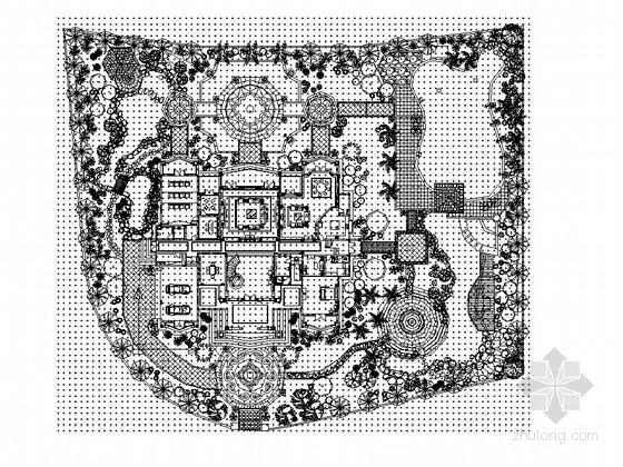 私家别墅庭院景观工程施工图