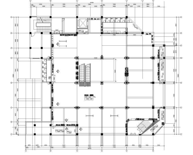 美特斯邦威旗舰店整套施工图设计(附单层鸟瞰图)