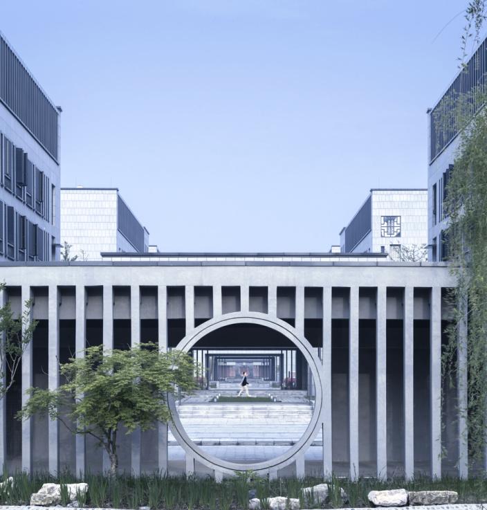 秦州高中文学与园厅景观