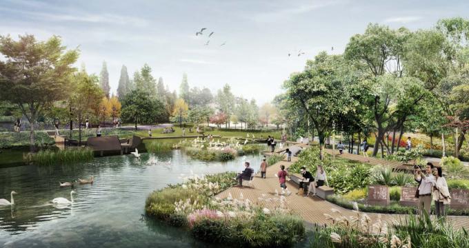 [上海]湿地田园生态市民体育公园景观设计方案