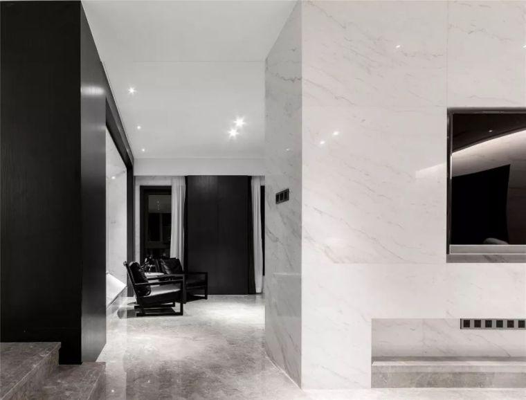 用大理石装点别墅,黑与白的精致美
