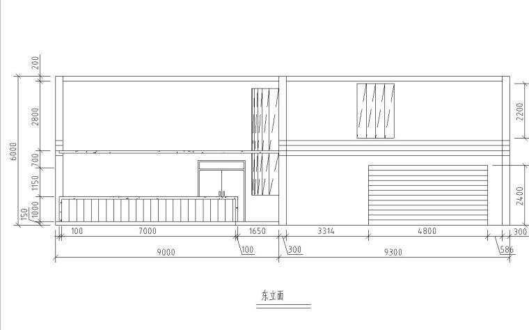 现代风格二层别墅建筑施工图设计