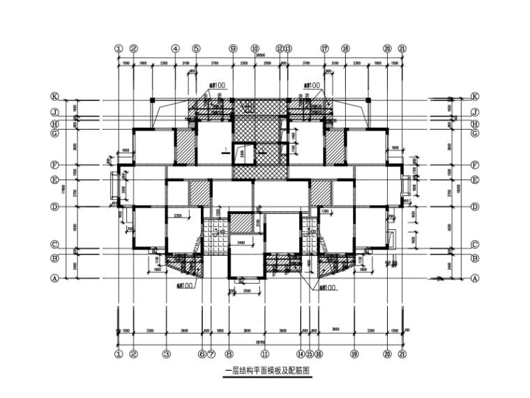 纯剪力墙结构住宅楼全套施工图纸