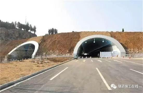 分离式独立双洞结构隧道施工