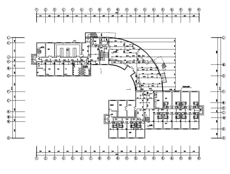 四层酒店给水排水设计图