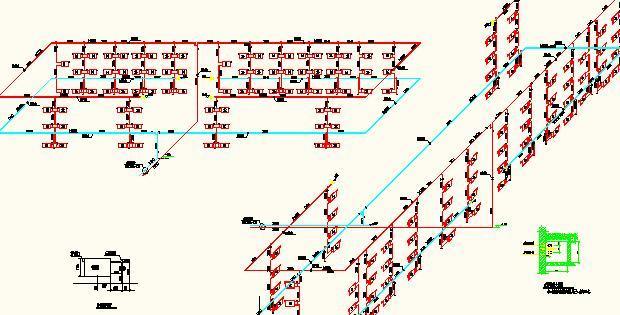 多层教学楼建筑采暖系统设计施工图