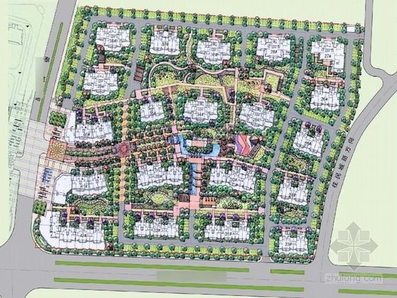 [青岛]赖特草原风格居住区花园景观规划方案