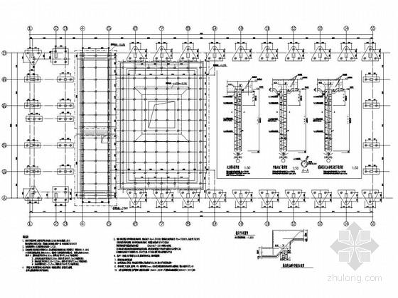 中船重工水池厂房办公楼结构施工图